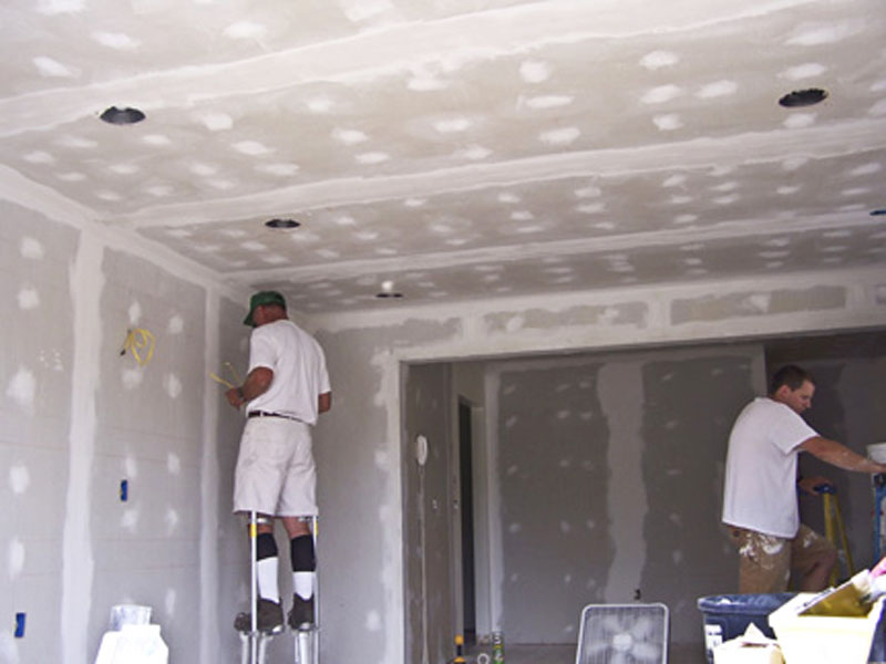 Living Room Sheetrock