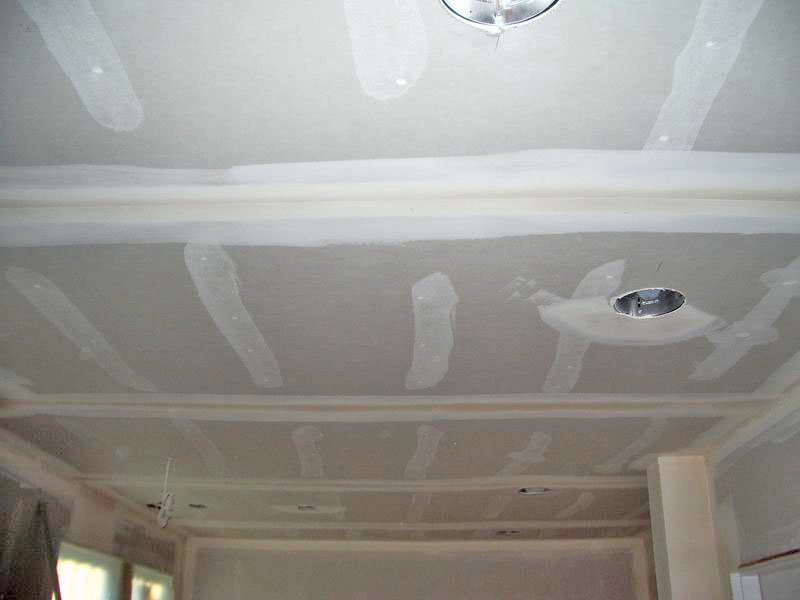 Family Room Ceiling Sheetrock